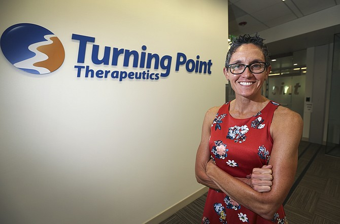 Athena Countouriotis is the CEO of Turning Point Therapeutics, among the San Diego biotechs that added space in the second quarter. Photo courtesy of Turning Point Therapeutics.