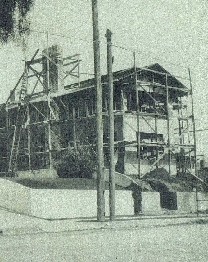The original Harry Wegeforth home under construction in 1916. Photo courtesy of the Junior League of San Diego.