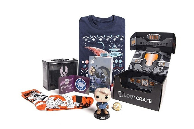 An example of a Loot Crate subscription box.