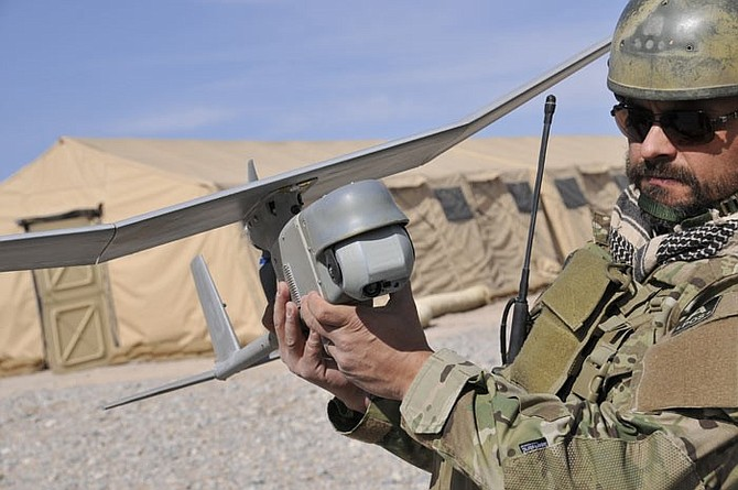 AeroVironment's RQ-11B Raven Small Unmanned Aircraft System designed for land-based operations.