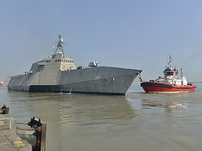 San Diego-based Littoral Combat Ship USS Montgomery in Indonesia on Aug. 4.