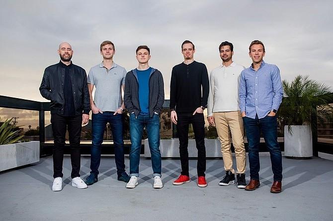 The Brainbase founding team, from left to right: Chris Griffin, Karl Johan Vallner, Nate Cavanaugh, Nikolai Tolkatshjov, Will Bowman, Alex Haff.