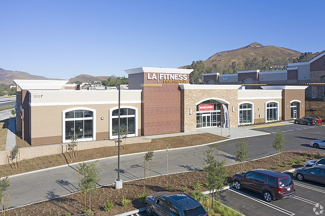 LA Fitness building in the Village at Newbury Park shopping center.
