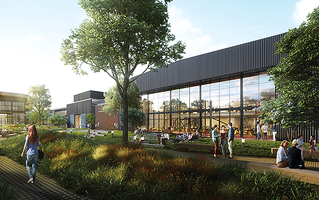 Industrial Chic: Hackman will convert a Northrop facility to offices.