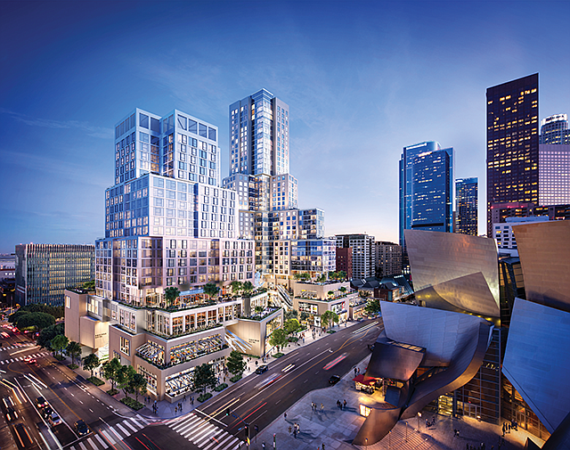 Iconic Neighborhood: Famed architect Frank Gehry designed The Grand and the nearby Walt Disney Concert Hall.
