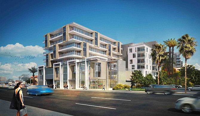 Valentina by Alta is the latest apartment addition to San Diego's Little Italy. Rendering courtesy of Wood Partners.