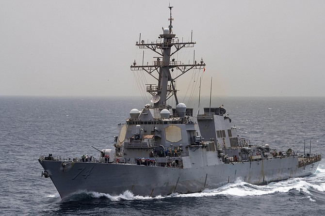 The Aegis weapon system goes on destroyers such as the USS McFaul. Photo courtesy of U.S. Navy.