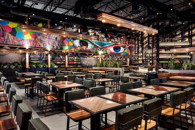 Puesto Mexican Artisan Kitchen & Bar in Mission Valley will come with an elaborate lighting designed by Basile Studio. Photo courtesy of BASILE Studio.