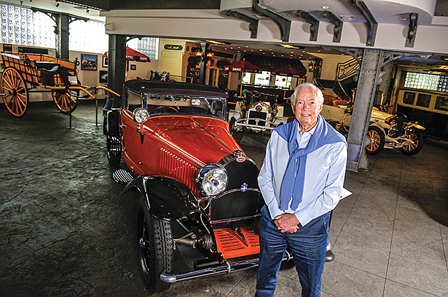 Peter Mullin restored this 1930 Bugatti Type 46 Cabriolet and installed Bottega Veneta leather seats. His wife, Merle, chose the paint color.
