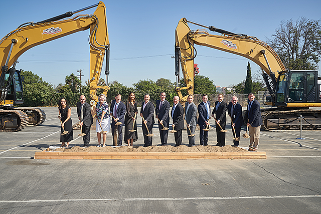 Starting Line: Officials broke ground for LAX's consolidated car rental facility on Sept. 12.