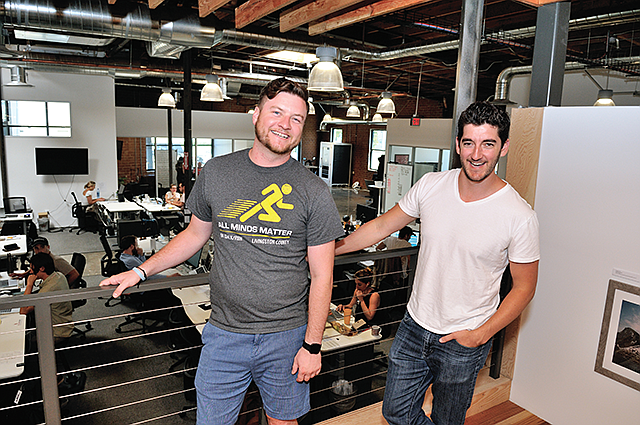 Erik Huberman (right) and Drew Leahy (left) spun Hawke Ventures out of their marketing agency Hawke Media.