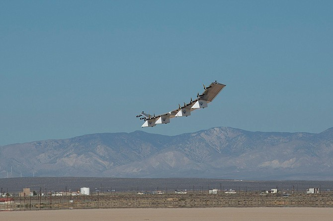 AeroVironment's Hawk30 solar powered high-altitude platform-station drone.