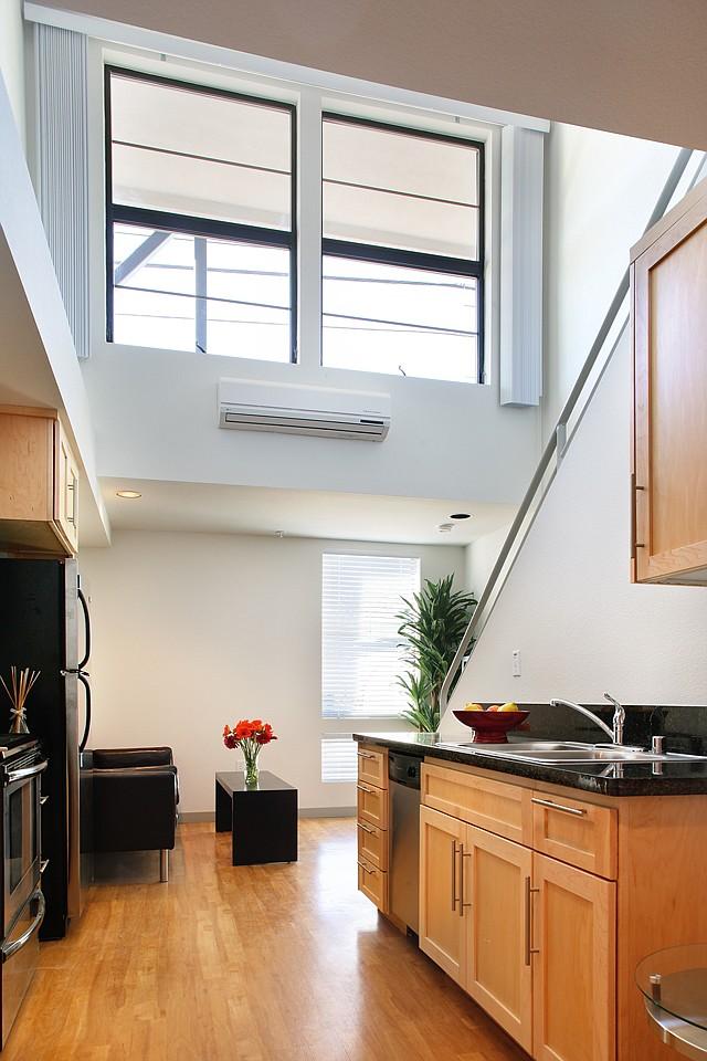 Micro Luxury: Olympic Lofts in Santa Monica measure 400 square feet.