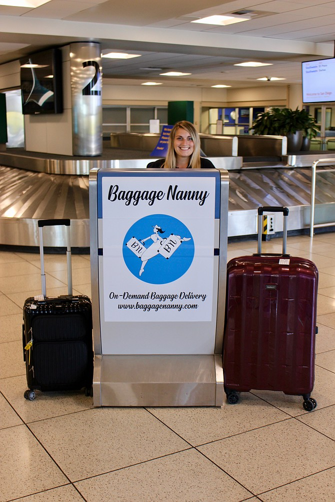Located at a staffed kiosk in Terminal 1 next to the baggage claim turnstiles, Baggage Nanny is a first-of-its-kind, on-demand concierge service. Photos courtesy of Baggage Nanny LLC.
