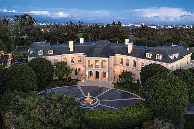 Record Breaker: The former Spelling Manor sold for $119,750,000.