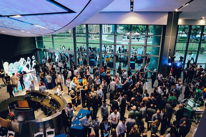 Attendees spill out of Qualcomm Hall in October for the largest John G. Watson Quick Pitch event in the competition's history. This year's event will be hosted on Oct. 29. Photo courtesy of Carly Matsumoto.