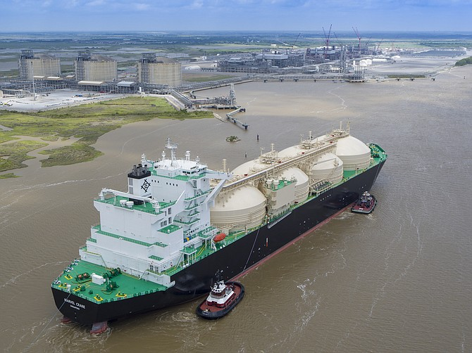 Sempra Energy's Cameron LNG subsidiary ships the first commissioning cargo of U.S. liquefied natural gas from its export project in Hackberry, Louisiana in May. Photo courtesy of Sempra Energy.