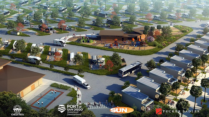 Construction is starting on an RV park on Chula Vista Bayfront. Photos courtesy of Port of San Diego.
