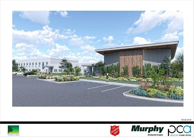 "Looking for a site where the ""economics work for us,"" The Salvation Army is building in Otay Mesa. Rendering courtesy of Salvation Army."
