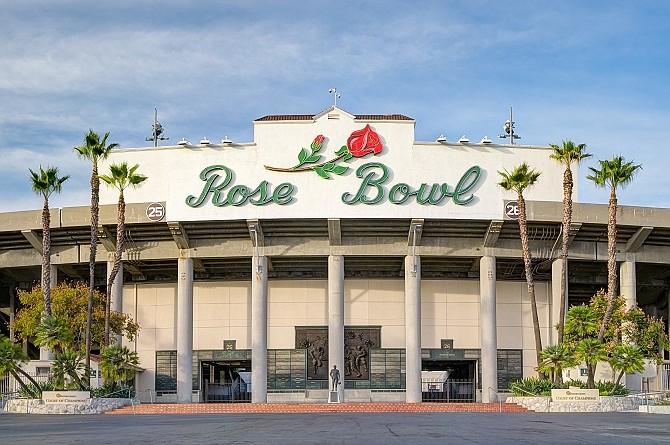 Rose Bowl Stadium in Pasadena.