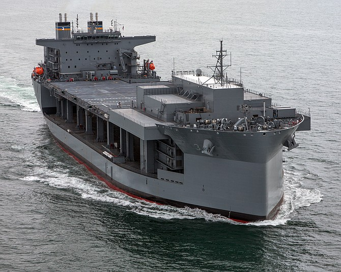 NASSCO built the Expeditionary Sea Base USNS Lewis B. Puller. Photo courtesy of General Dynamics NASSCO.