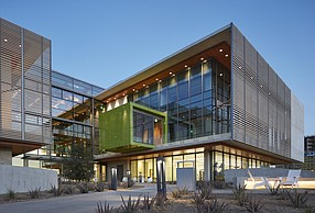 The Center for Novel Therapeutics was designed for people to share ideas. Photo courtesy of BioMed Realty.