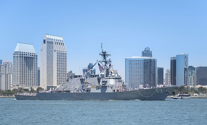 The USS Stethem arrives in July. Photo courtesy of U.S. Navy.