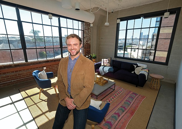 Team Work: WeWork's Kley Sippel at the company's first Arts District location.