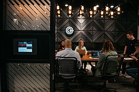 Community and collaboration are part of the attraction of coworking as in the Carlsbad location of CommonGrounds. Photos courtesy of CommonGrounds.