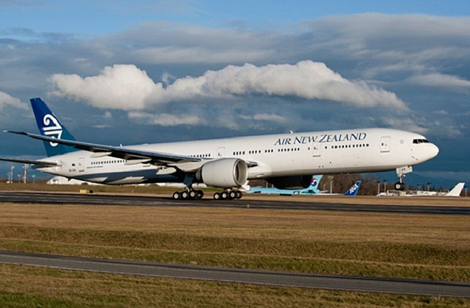 Air New Zealand Boeing 777-300 Extended Range plane. Photo courtesy of Boeing.