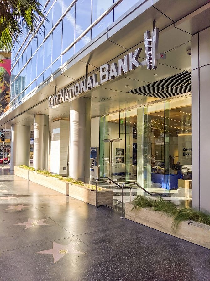 City National Bank's new Hollywood branch.