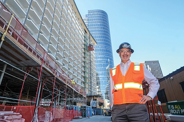 Towering Challenge: Gust Soteropulos is overseeing Webcor Construction's Century Plaza project in Century City.