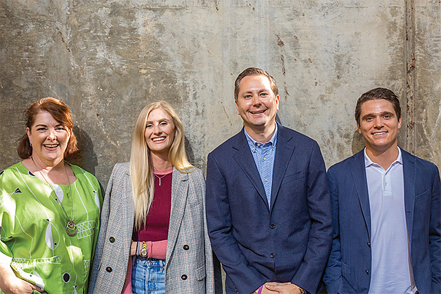 Faces of L.A.: (From left) Petra Durnin, Lexi Aiassa, Owen Fileti and Mac Burridge will lead the HelloOffice team.
