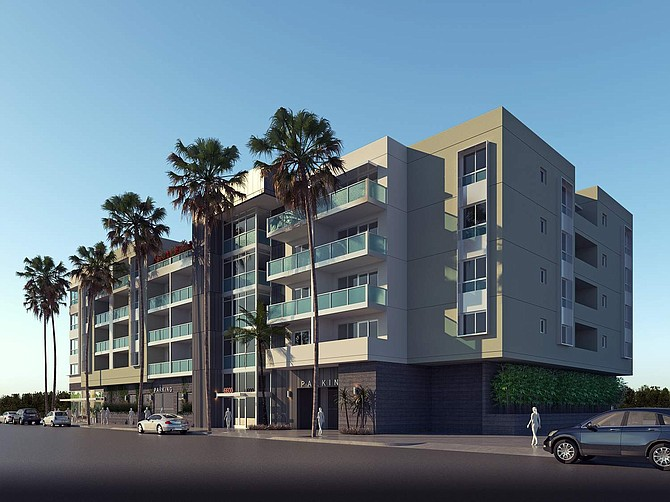 Rendering of development at the corner of Kitteridge Street and Van Nuys Boulevard in Van Nuys.