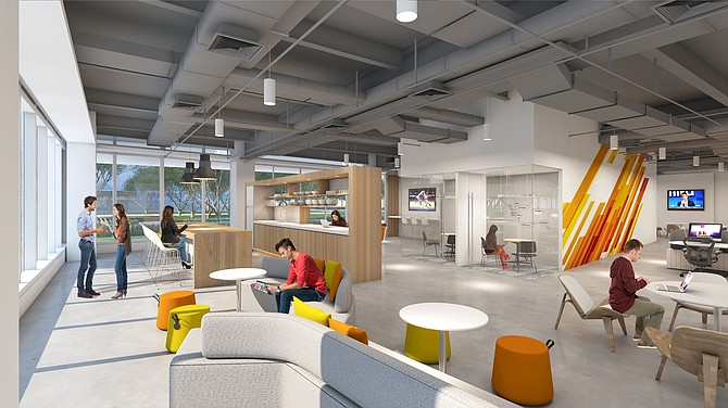 Irvine Co.'s Flex Workplace + offers options to tenants. Rendering courtesy of Irvine Co.