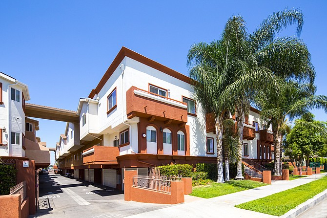 Burnet Townhomes at 9001-9009 Burnet Ave. in North Hills.