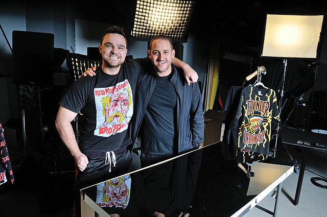 Fashion Frenzy: (From left) Ntwrk co-creators Jamie Iovine and Aaron Levant.