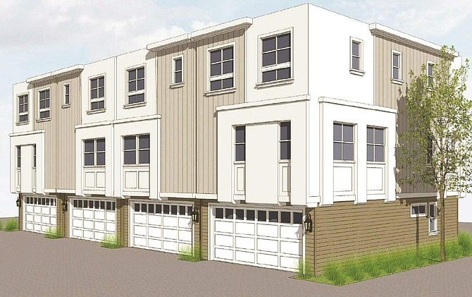 Rendering of small-lot project in Valley Village.