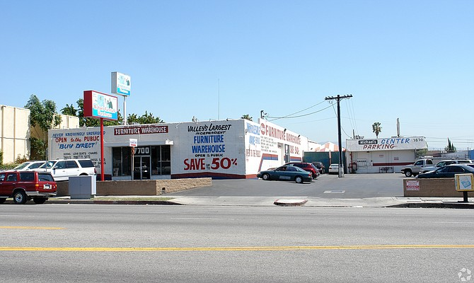Site of proposed senior housing at at 7700 N. Woodman Ave. in Panorama City.
