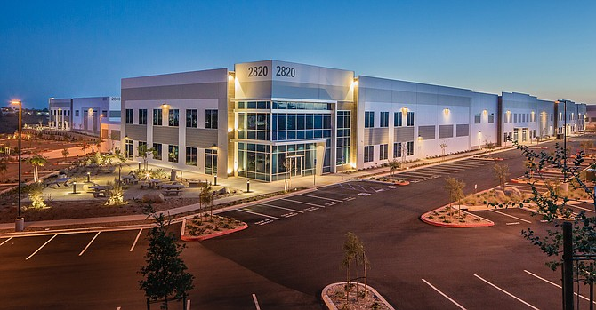 The Pacific Vista Commerce Center in Carlsbad is part of San Diego's sizzling industrial sector. Photo courtesy of Ryan Cos.