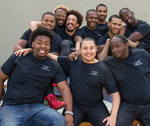 Members of APLA Health's HIV testing, education, and prevention initiative for young African-American and Latino men who sleep with men between the ages of 18-29.