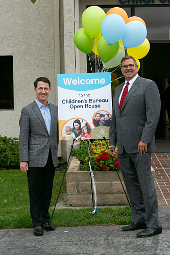 Children's Bureau Board Chair Patrick Niemann and Children's Bureau President & CEO Ron Brown at the grand opening of