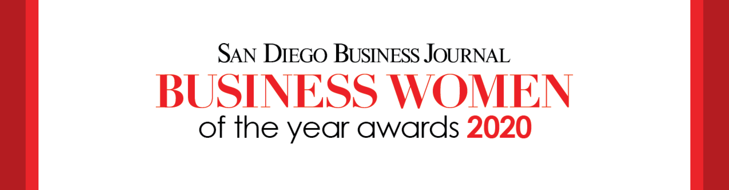 San Diego Business Journal Business Women of the Year
