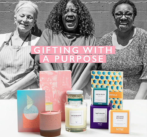 The Home & Gift Collection is created by the women of MADE by DWC. Your purchase helps end homelessness and change lives.