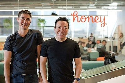 Honey Science Corp. Co-Founders Ryan Hudson and George Ruan at their Mid-Wilshire headquarters.