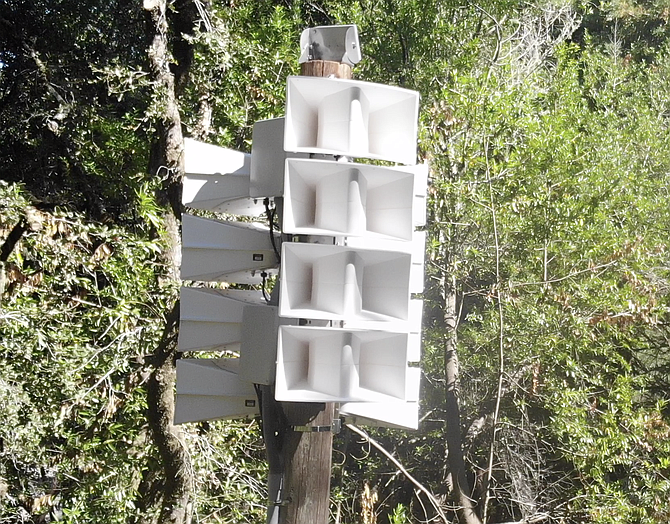 One of five Genasys emergency warning voice siren installations in Mill Valley, California. Photo courtesy of Genasys.