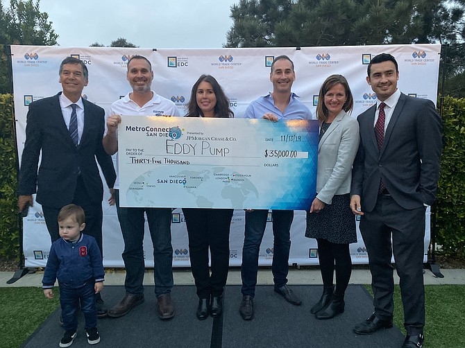 EDDY Pump won this year's $35,000 prize at MetroConnect. The program, hosted by the World Trade Center San Diego, helps small and medium businesses grow their exports. Photo courtesy of World Trade Center San Diego.
