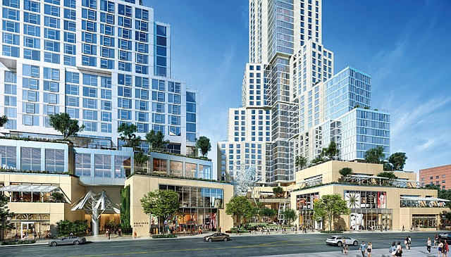 The Grand at 130 S. Grand Ave. is a mixed-use project being developed by Related Cos. It will have more than 400 units.