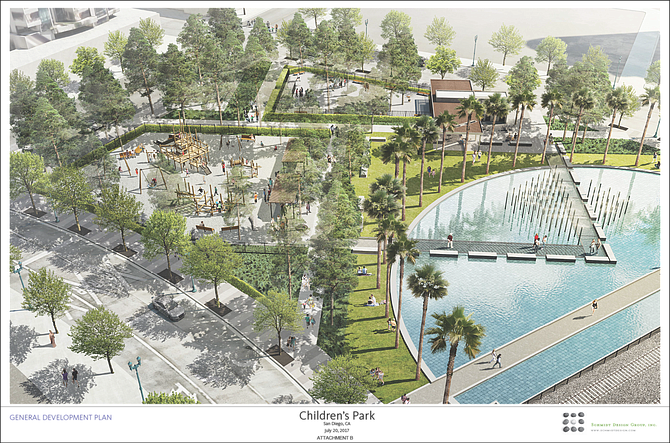 Total budget for the Children's Park redesign will include the preparation of the construction drawings as well as permitting, according to the City of San Diego. Renderings courtesy of the City of San Diego.