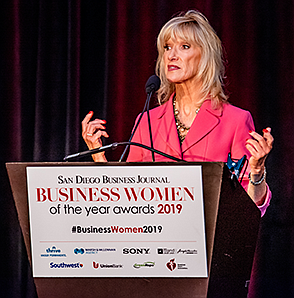 Keynote speaker, Carrie Stone,  addresses the subject of getting a board seat. (Photo by Bob Hoffman Photography)